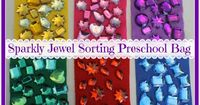 Sparkly Jewel Sorting Preschool Busy Bag change to color families maybe for k2 centers