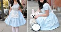 Another sweet Alice costume, though this one earns extra points for managing to get her pup into rabbit ears. Photo courtesy of Lookbook.nu