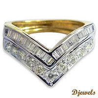 """Enagagement Diamond Ring In 14K H/M Yellow Gold For Woemen's By Djewels Greetings from Djewels �€"""" India's one the top most Diamond Jewellery Manufacturer , wholesaler since 1985. We can customize any kind of Real Diamond Jewelle..."""