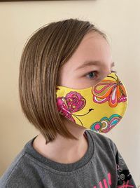 Face Mask for Kids and Adults, Hand Made Face Mask with Filter Pocket, Three Layers of 100% Cotton Fabric $20.00