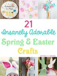 Lots of super cute spring and Easter craft ideas and inspiration - DIY home decor, treats, and more!