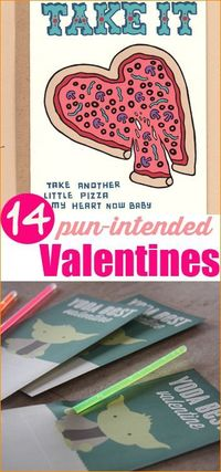 Pun-Intended Valentine Cards. Creative DIY Valentine cards.