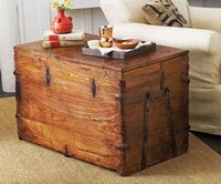Vintage Wardrobe Trunk. The treasure-chest character of these extraordinary vintage trunks makes them perfect for storing family heirlooms and blankets. Dating back to the 1920s, they were originally used by a theater company for storing opera costumes.