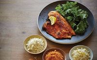 """Tilapia breaded with almond flour. Lots of different flavor combinations to season the almond """"crumbs."""" UPDATE: I went with the lemon pepper and saute options. Maybe it would've been better if I had baked it, but the crumbs just fell off and..."""