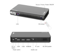 BYINTEK UFO P12 300inch Smart 3D WIFI Android Pocket HD Portable Micro Mini LED DLP Projector For Iphone with Battery