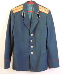 Uniform Jacket Parade Blazer Soviet Russian Army Captain Military Tunic L Size $45.00