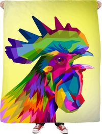 Love Roosters Fleece Blanket $65.00