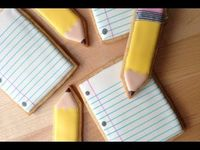 Back To School! How To Decorate Pencil and Paper Cookies - YouTube