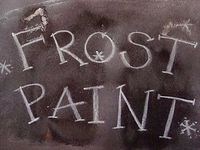 To Do: Make my own frost paint...Oh boy...frost paint your windows....Mix equal parts of boiling water and Epsom Salts in a glass (1/4 cup of each should be plenty). Stir until the salts are dissolved and let cool. *Winter crafts*
