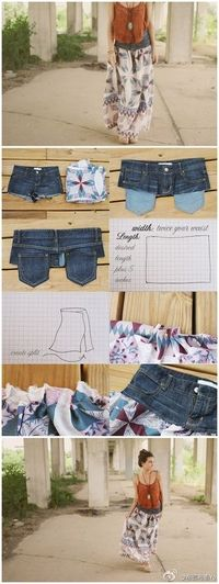 up-cycle old jeans