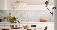 marble & wood kitchen by Marie-Laure Helmkampf of Ml-h design