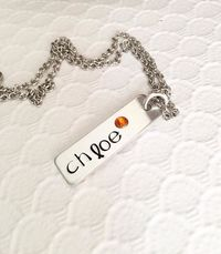 Name necklace - Hand stamped jewelry - Hand $19.33