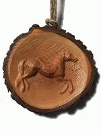 Carousel Horse Ornament | Rustic Holiday Decor | Housewarming| Christmas Ornaments| $7.00