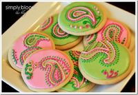 paisley decorated cookies.