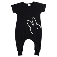 Rabbit Black Romper $22