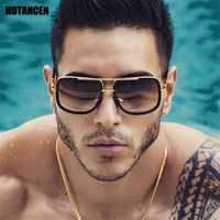 New Fashion Big Frame Sunglasses Men/Women Square Fashion Sunglasses High Quality Retro Vintage $11.67