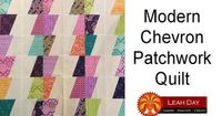 How to make a Modern Chevron Patchwork Quilt - YouTube