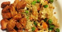"""Cauliflower """"Fried Rice"""" 21 Day Fix approved. Created by coach Kate Brockmeyer www.fb.com/koyotekate for more recipes like this one!"""