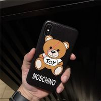Moschino Toy Bear iPhone Case Black