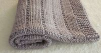 Ravelry: Newborn baby blanket pattern by Altadena Green 50cm x 50cm #9 Cast on 71 stitches Knit 9rows K6, (p4, k1) x11, p4, k6 All knit Repeat 40 times Knit 8 rows