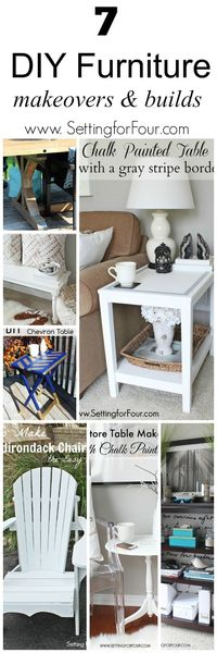 Do you enjoy giving new life to thrifted furniture finds and making new pieces? I do! Here are some of my past favorite DIY furniture makeovers and builds.