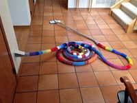 Ravelry: yarnRx's Vacuum hose 'hose'. So funny and cheerful!