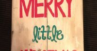 Vintage look Christmas decor. Hand painted on reclaimed wood. Size pictured is approx. 11 3/4x 26 This can be hung on a wall or a front door.