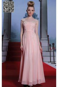 Pink Sweetheart spaghetti strap Tencel bridesmaid dresses S936