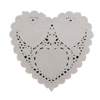 Pack of 100 Love Heart Paper Doilies 9cm x 10cm. Off White Doily for Valentine's Day & Christmas £4.69