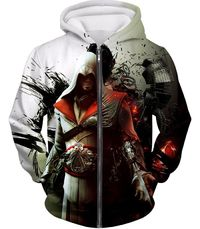Awesome Assassin Ezio Firenze Super Cool Graphic Promo Zip Up Hoodie AC018 $39.99
