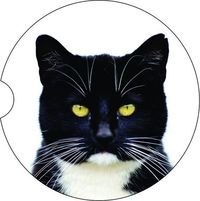 2 Absorbent Car Coasters of Cat #2. Car Accessories for her, Abstract Auto Coaster, Coaster, Cup Holder Coaster, Gift For Her, For Him $14.00