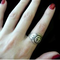 """Sterling Silver Cross """"Gumball"""" Ring $195.00"""