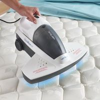 Antibacterial UV-C Bed Vac. Kills bedbugs and dust mites! This germophobe just died and went to heaven! Mattresses gross me out (even my own!)!!