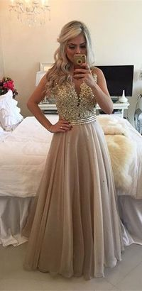 Formal Dress Prom Dress Sheer Illusion A-Line Prom Dresses 2016 Floor Length Lace Evening Gowns with Beadings
