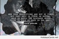 New year resolutions are not by force quote