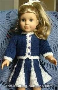 Image Search Results for free crochet patterns for american girl doll clothes (this pattern is knit)