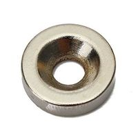 100 pcs Strong Ring Magnets 4 mm Hole Countersunk Ring Magnet Rare Earth Neodymium $12.90