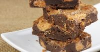 Butterfinger Brownies. My favorite candy bar is a Butterfinger so these are perfect for me!