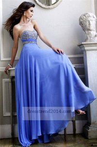 Cheap Sequin Periwinkle Long Prom Dresses