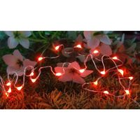 20 Led Copper Fairy Lights - Red by Decorshop $4.99