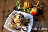 Have you ever made fried ice cream at home? It's so good! It's really pretty easy too! You really only need 5 ingredients: At Home Fried Ice Cream: �€�