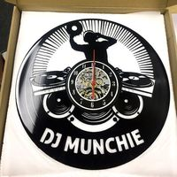 This vintage DJ name clock is made from a new and original vinyl music record. This creative handmade art is a perfect Christmas, Anniversary, Birthday, Valentines or a wedding gift for DJ friend. https://www.gullei.com/personalized-great-dj-name-gift-vi...