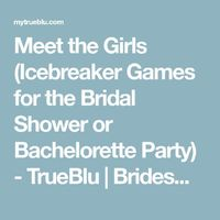 Any gathering of acquaintances and strangers can be awkward at first, and the bridal shower or bachelorette party is no exception. Get guests mingling and laugh