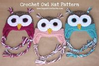 Repeat Crafter Me: Crochet Owl Hat Pattern