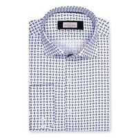 Create a stylish look with this Oxford Men multi printed shirt. Woven in Egyptian cotton. this shirt has a fine finish.  �€� 100% Cotton  �€� Classic collar  �€� French cuff  �€� Oxford Men  �€� Machine Washable...