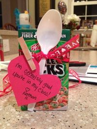 Mini Cereal Box Valentine for Joel's class! A little better than giving candy!