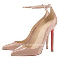 Nude Patent Halte 120mm Pointed Toe Pumps by Christian Louboutin