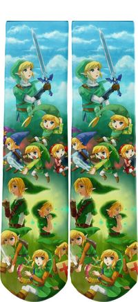 Link Tribute Legend of Zelda Novelty Socks One Size Fits All $11.70 https://www.nurdtyme.com