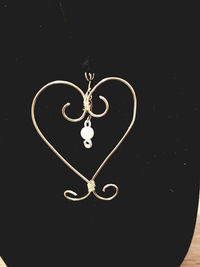Wire Wrapped Heart Pendant Necklace Style #1 $12.00