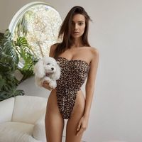 Summer Women Sexy Swimwear One Piece Halter Push Up Swimsuit Bandage Swimsuit Wear Female Bikini 2018 $26.46